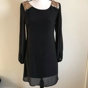 Black Sheer Midi Dress